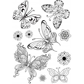"Memories4you Stempel (A5)  ""Schmetterling"""