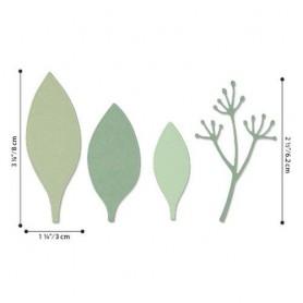 Sizzix Thinlits Die Set - 4PK Elegant Leaves  Jen Long