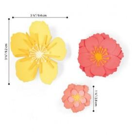 Sizzix Thinlits Die Set - 7PK Floral Blossom  Jen Long