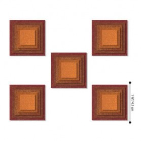 Sizzix - Thinlits Die Set 25PK Stacked Squares  Tim Holtz