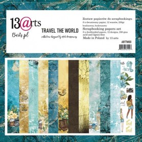 "Paper Collection Set 12""*12"" - Travel the World, 250 gsm (6 double-sided sheets, 12 designs)"
