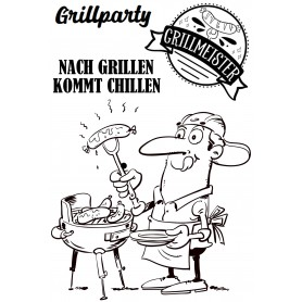 """Memories4you Stempel (A6)  """"Grillmeister"""""""