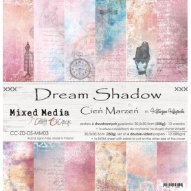 "Paper Collection Set 12""*12"" Dream Shadow, Mixed Media, 250 gsm"