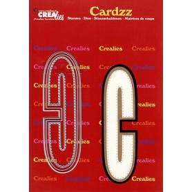 Crealies Cardzz letters Buchstabe C CLCZ403 max. 13 cm