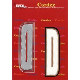 Crealies Cardzz letters Buchstabe D CLCZ404 max. 13 cm