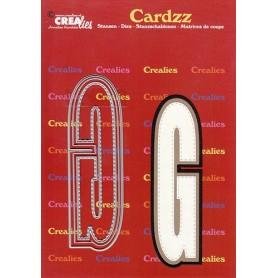 Crealies Cardzz letters Buchstabe G max. 13 cm