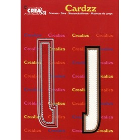 Crealies Cardzz letters Buchstabe J  max. 13 cm