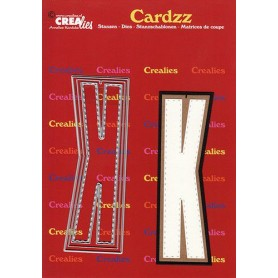 Crealies Cardzz letters Buchstabe K  max. 13 cm