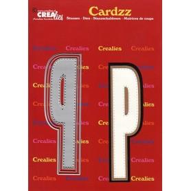Crealies Cardzz letters Buchstabe P max. 13 cm