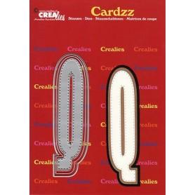 Crealies Cardzz letters Buchstabe Q  max. 13 cm