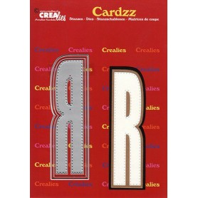 Crealies Cardzz letters Buchstabe R  max. 13 cm