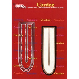 Crealies Cardzz letters Buchstabe U CLCZ421 max. 13 cm