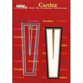 Crealies Cardzz letters Buchstabe V max. 13 cm