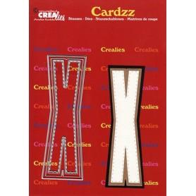 Crealies Cardzz letters Buchstabe X max. 13 cm