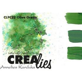 Crealies Pigment Colorzz Pulver Olivgrün