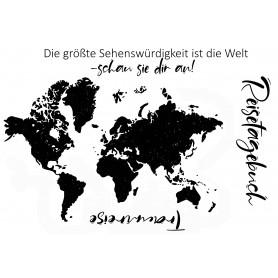 """Memories4you Stempel (A6)  """"Weltkarte"""""""
