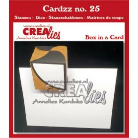 Crealies Cardzz Box in einer Karte  fits in most cardsizes