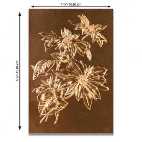 Sizzix 3-D Texture Fades Emb. Folder - Poinsettia  Tim Holtz