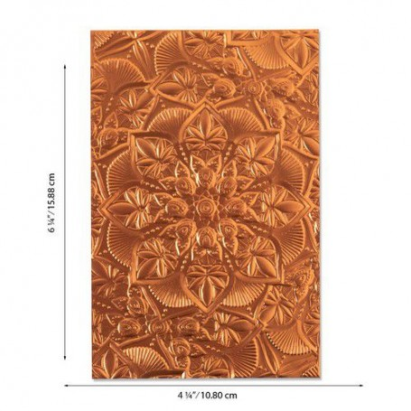 Sizzix 3-D Textured Impressions Emb. Folder Floral Mandala  Kath Breen
