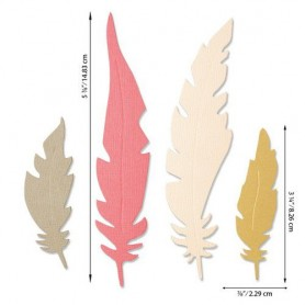 Sizzix Bigz Die - Natural Feathers Jenna Rushforth