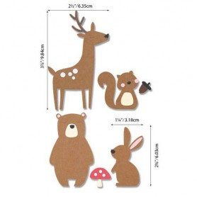 Sizzix Bigz Die - Forest Friends  Olivia Rose