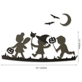 Sizzix Thinlits Die Set - Halloween Silhouettes 6PK  Lisa Jones