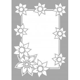 """Memories4You Stencil (A6) """"Flowerborder"""" ( Blumenrahmen )"""