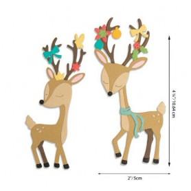 Sizzix Thinlits Die Set - Christmas Deer 10PK  Jen Long
