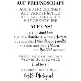 """Memories4you Stempel (A6)  """"Freundschaft"""""""