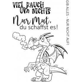 Memories4you Stempel A7  Drache