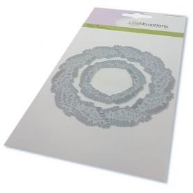 CraftEmotions Die - Kranz aus Tannenzweigen Card 10,5x14,8cm