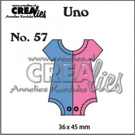 Crealies Uno no. 57 Strampler (Small) CLUno57 36x45mm