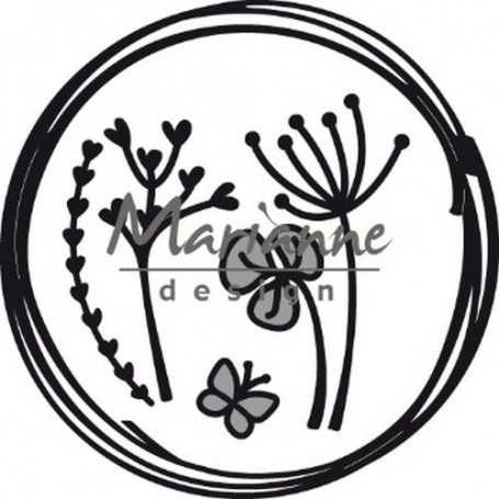 Marianne D Craftable Doodle Kreis 85.5x85.5 mm CR1468