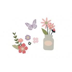 Sizzix Thinlits Die Set 17PK - Garden Florals My Life Handmade