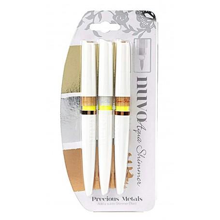 Nuvo aqua shimmer pens 3 pack - Precious Metals