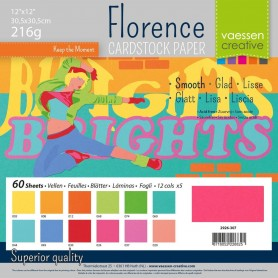 Florence • Cardstock smooth 30,5x30,5cm 12x5 Brights