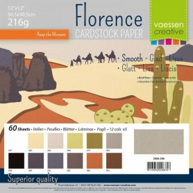 Florence • Cardstock smooth 30,5x30,5cm 12x5 Earth tones