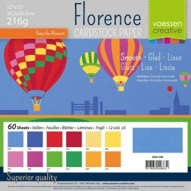 Florence • Cardstock smooth 30,5x30,5cm 12x5 Primary