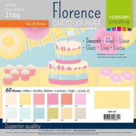 Florence • Cardstock smooth 30,5x30,5cm 12x5 Pastel