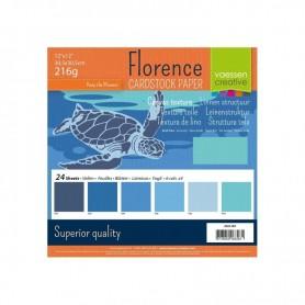 Florence • Cardstock multipack 30,5x30,5cm Blau