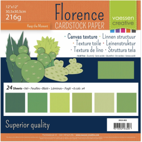 Florence • Cardstock multipack 30,5x30,5cm Grün