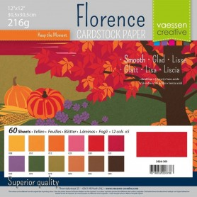 Florence • Cardstock smooth 30,5x30,5cm 12x5 Autumn