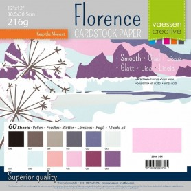 Florence • Cardstock smooth 30,5x30,5cm 12x5 Winter