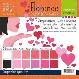 Florence • Cardstock multipack 30,5x30,5cm Valentinstag