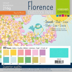 Florence • Cardstock smooth 30,5x30,5cm 12x5 Spring
