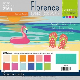 Florence • Cardstock smooth 30,5x30,5cm 12x5 Summer