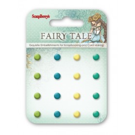 Enamel brads Fairy Tale 1, 16 pcs