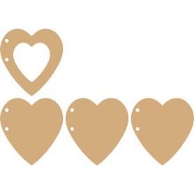 Pronty MDF Album Hearts 3+1pc