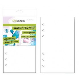 Watercolor papier - bril. Ringbinder weiß A5 CraftEmotions