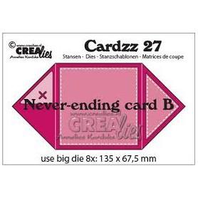 Crealies Cardzz Unendliche Karte B
